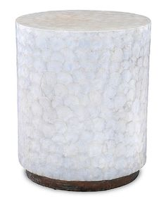 Look at this #zulilyfind! Capiz 23'' End Table #zulilyfinds