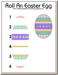 Roll an Easter Egg: Roll the dice and put together the egg puzzle depending on the number you roll!