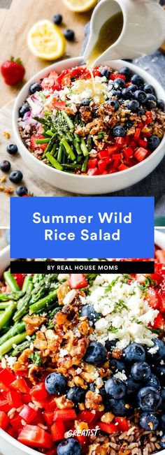 9 Make-Ahead Dishes for Summer Parties Healthy Lunch Ideas Wild Rice Recipes, Rice Salad Recipes, Summer Pasta Salad, Summer Salads, Quinoa, Wild Rice Salad, Creamy Potato Salad, Beach Meals, Summer Recipes