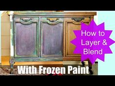How to Paint Furniture, Blend and Layer colors like an Artist - YouTube