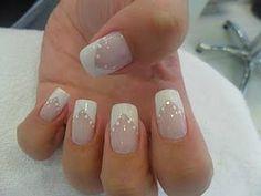 Unhas decoradas Love Nails, How To Do Nails, My Nails, Wedding Manicure, Bridal Nails, Fingernails Painted, Party Nails, Manicure Y Pedicure, Nail Shop