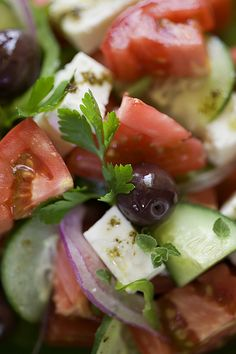are you hungry?  Greek Salad #gastronomy #Greece via: Breathtaking Athens