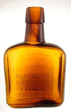 """DR. HARTER'S WILD CHERRY BITTERS DAYTON OH. 4 ½"""" Tooled top. -"""