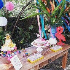 Pool party flamingos e  abacaxis