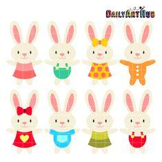 FREE Baby Bunnies Clip Art Set