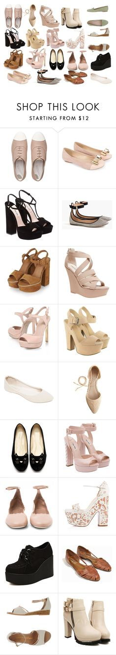 """""""Style Steal:Marzia Bisognin-Shoes"""" by emnicole9 ❤ liked on Polyvore featuring FitFlop, Monsoon, Miu Miu, J.Crew, Topshop, Wet Seal, KG Kurt Geiger, Lipsy, Chloé and Christian Louboutin"""