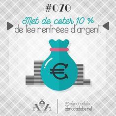 💵 Jour 70 : Met de coter 10 % de tes rentrées d'argent. 💰 Tu dois savoir qu'il est possible, d'améliorer ses finances grâce à un peu d'organisation, quelques sacrifices de temps en temps et de la persévérance afin que tu puisses atteindre tes objectifs. 💴 Même si économiser de l'argent peut souvent sembler comme une tâche herculéenne. 💡  Il y a beaucoup de façons faciles d'économiser de l'argent qui ne nécessitent pas beaucoup d'efforts, alors n'attends plus et commence pas mettre de…
