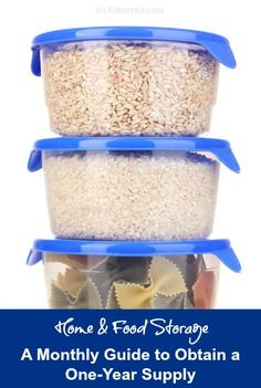 Home & Food Storage: A Monthly Guide to Obtain a One-Year Supply | Bakerette.com