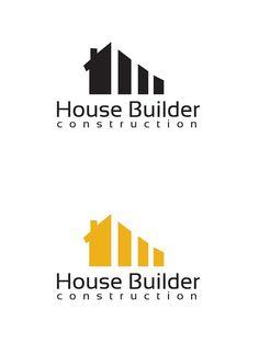 home logo House Builder Logo Template Logos, Typography Logo, Construction Company Logo, Construction Business, Construction Birthday, Construction Design, Roofing Logo, Property Logo, Building Logo