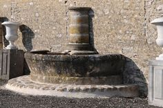 Ornamental wall fountain maded of antique architectural elements at 1stdibs