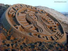 I love this Starbucks Coffee Sand Sculpture! #sandcastle #udderlysmooth