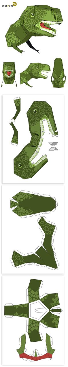 Make your own T. rex paper head: upload the pdf on our website (copyright: Royal Belgian Institute of Natural Sciences, RBINS) Make Your Own, How To Make, Science And Nature, Playroom, Paper Crafts, Museum, Pdf, Website, Gallery