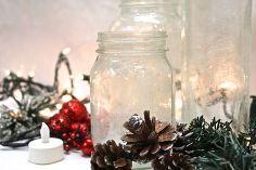 frosted illum mason aries get the look, crafts, mason jars, seasonal holiday decor