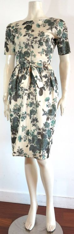 1950's EISA / BALENCIAGA Silk taffeta couture dress