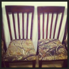 Reupholstered Kitchen Chairs With Camo Fabric. Camo Home Decor, Home Decor  Furniture, Kitchen