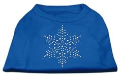 Mirage cat Products 8-Inch Snowflake Rhinestone Print Shirt for cats, X-Small, Blue > Don't get left behind, see this great cat product : Cat Apparel