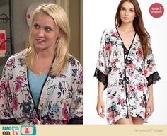 Gabi's floral kimono jacket on Young and Hungry.  Outfit Details: http://wornontv.net/35410/ #YoungandHungry