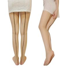 64aad5066 Sexy Women Sheer Transparent Line Back Seam Tights Stockings Pantyhose  Fashio Ii  fashion  clothing