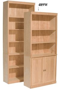 Ready To Paint Built In Bookcases Whittier Wood Furniture Clic Bookcase Unfinished