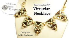 """In this video tutorial, Allie Buchman shows you how to make her """"Vitruvian Necklace"""" pattern. Find a list of materials in the description below by clicking """"..."""