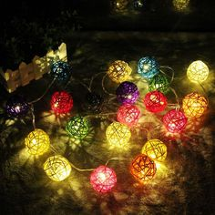 Top Watermelons 10pcs Wicker Rattan Ball Wedding Christmas Party Hanging Dec Nursery Mobiles 3cm assorted Color