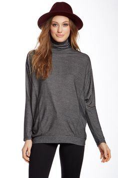 Long Sleeve Turtleneck Pullover by Go Couture