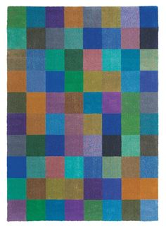 Wollen vloerkleed in patchwork dessin