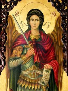 Holy Icons of Angels Angels Among Us, Angels And Demons, Catholic Art, Religious Art, Paint Icon, Byzantine Icons, Archangel Michael, Orthodox Icons, Angel Art