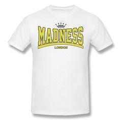 QDYJM Men's Madness Crown London T-shirt - L White