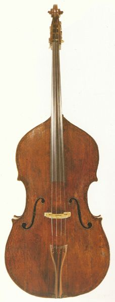 Double Bass: Giovanni Battista Rogeri, circa 1690. Compare this to the our new Rogeri model.