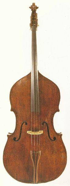 Double Bass: Giovanni Battista Rogeri, circa 1690. Compare this to the our new Rogeri model.