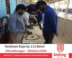 Today Hardware Expo done by the 113 Batch Engineers at Jetking Dsnr #iamjetkingdilsukhnagar. www.myjetking.com