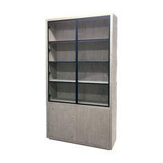 Vitrinekast Puur met 2 metalen glasdeuren Tall Cabinet Storage, Locker Storage, Lockers, Furniture, Home Decor, Perfume, Decoration Home, Room Decor, Locker