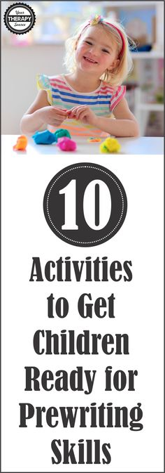 10 Activities to Get Children Ready for Prewriting Skills - make it fun with these play activities, no pencils or crayons needed!