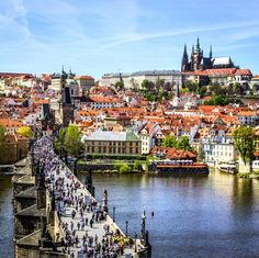 You could spend days venturing over Prague's bridges, walking along the Vltava River and exploring the cities neighborhoods, and would never get bored. | 27 Pictures That Prove The Czech Republic Will Be The Most Beautiful Place You Ever Visit