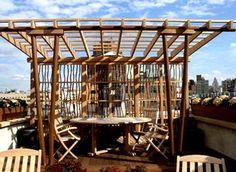 Modern Rooftop Pergola/pergola framing