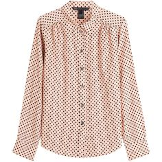 Marc by Marc Jacobs Printed Blouse (11.250 RUB) ❤ liked on Polyvore featuring tops, blouses, shirts, polka dots, pink top, dotted shirts, pencil shirt, shirt blouse and button front blouse