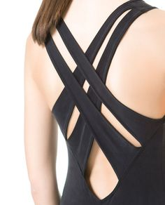 ZARA - WOMAN - DRESS WITH STRAPS AT THE BACK Dance Outfits, Cute Outfits, Girl Fashion, Fashion Dresses, Figure Skating Dresses, Workout Attire, Dance Leotards, Clothes Crafts, Feminine Fashion