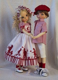"""Sweet Silhouettes ~ OOAK Outfit for 17"""" Kaye Wiggs  MSD BJD MAURICE~  By Gloria"""