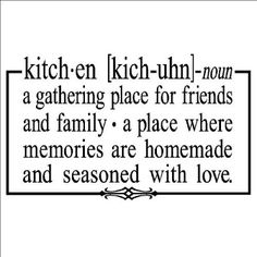 kitchen a gathering place for friends and family x vinyl lettering wall sayings home dcor art sticker decal quote word wall sayings vinyl - Kitchen Sayings
