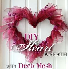 Party Ideas by Mardi Gras Outlet: Valentine's Day Wreath Ideas with Deco Mesh & Work Wreath Forms