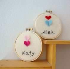 personalized embroidered wall hoop art