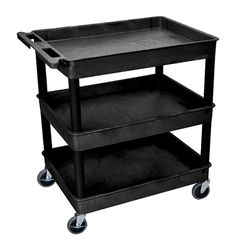 Luxor TC111 Utility Cart with 3 Tub Shelves | Affordable Utility Cart & Luxor Products.