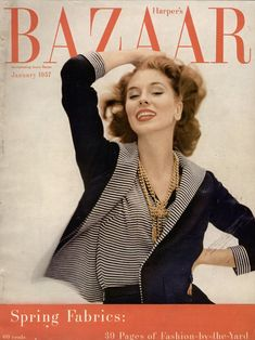 suzy parker on the cover of harper s bazaar 1957 suzy parker in ...