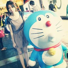 人人期望可達到 我的快樂比天高*  #doraemon #in #hongkong #photo #with #him #hk #tsimshatsui #camera #hkiger #hkig #iger #ig #girl #hkgirl #follow #funny - @ccy_ying- #webstagram