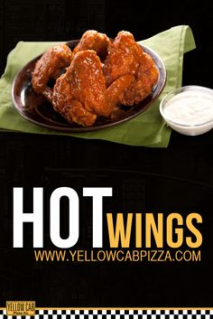 Hot chicken wings perfect with pizza. Pizza Holiday, Pizza Special, Chicken Wings, Cheers, Good Food, Fresh, Breakfast, Hot, Morning Coffee