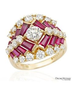 Never be embarrassed by showing this!  OSCAR HEYMAN Ladies Diamond Ring Designed In 18K Yellow Gold at Modnique.com