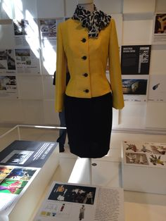 This shows a dress style was inspired by the Yves Saint Laurent boutique and crafted in the Japanese drab look, like Yamamoto which was popular amongst the people back then. Principle of Design: Contrast, between the black and yellow in the dress.
