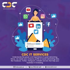 CDC IT SERVICES understands the power and importance of social networking. Hence, we create your company profile on social networking sites, like Facebook, Twitter, Instagram, LinkedIn and etc that help your business in increasing the awareness about your brand, boosting your leads & sales. Contact us today. Competitor Analysis, Company Profile, Social Networks, Create Yourself, Family Guy, Facebook, Twitter, Business, Inspiration