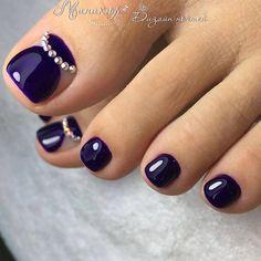 Pretty Toe Nails, Cute Toe Nails, Fancy Nails, Pedicure Designs, Manicure E Pedicure, Toe Nail Designs, Pedicures, Toe Nail Color, Toe Nail Art